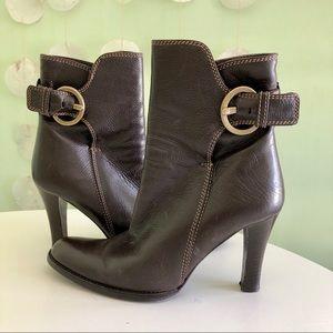 Coach Nancie Soft Calf Ankle Heeled Boots